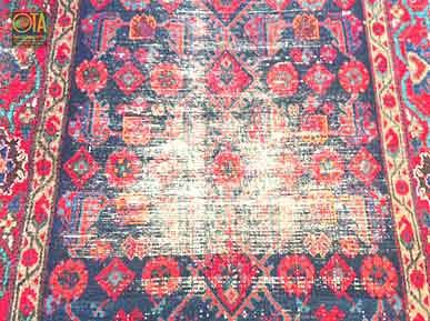 Abgetretenen Teppich nachgeknüpfen