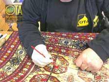 Farbechtes Nachfärben eines alten Buchara vom Fachmann
