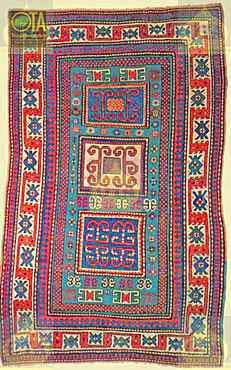 Antiker Kazak wurde in unserer Teppichreparatur-Werkstatt restauriert