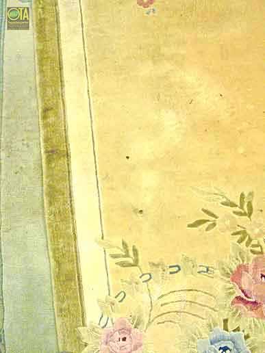 Brandschaden an einem Seidenteppich werden bei uns original restauriert