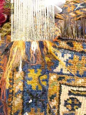 Fachmännische Teppichrestauration bei antiken Teppich