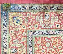 Ghom Seidenteppich mit Tintenfleck