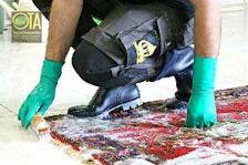 Teppichwäsche erfolgt per Hand und auch die Rückseite wird gewaschen