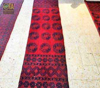 Afghan Teppich nach dem Verkürzen
